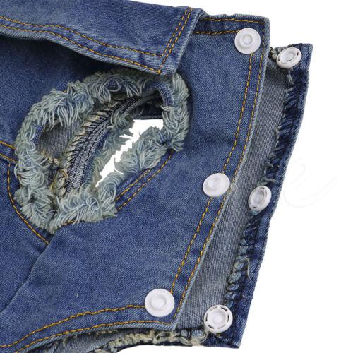 Soft Blue Jeans Denim Cute Pet Dog Cat Puppy Coat Jacket Clothes Costume Apparel