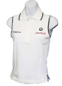 NEU Henri Lloyd BMW Oracle Damen Segeln Golf Tennis Piqué Polo Shirt weiß M