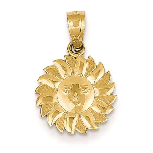 14K Or Jaune Soleil Avec Visage Charme Pendentif fabricants Standard prix de détail $92