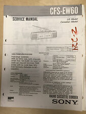 Sony Service Manual for the CFS-EW60 Cassette-Corder Radio ~ Repair