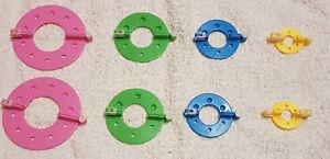 8 Stück Pompon Set Selber Machen Bommel Maker Pompom Macher 4  Größen Kunst DIY
