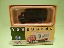 VANGUARDS VA8000 BEDFORD S TYPE VAN - ARMY GREEN 1:64 - GOOD CONDITION IN BOX