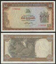 RHODESIA - 5 Dollars 15.5.1979 UNC Pick 40a