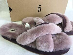 0a2621861b48 Ugg Abela Dusk Pink Slipper Slides Criss Cross Shoes 1017548 Women s ...
