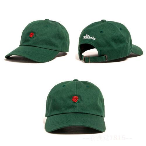 The Hundreds Rose Embroidered Hat Baseball Cap Snapback Drake Adjustable Ballcap