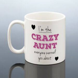 Image Is Loading CRAZY AUNT MUG Auntie Birthday Aunts Mothers Day