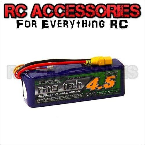 4500 mAh Lipo Batteria 6 S 22.2 V RC auto 25 C XT90 DEANS EC5 HXT4mm Heli Aereo