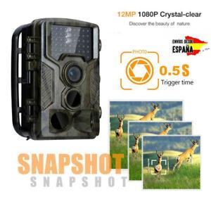 Cámara de caza de gran angular HC-800A de 16MP 1080P HD IR 120 ° IP56 + 32GB TF