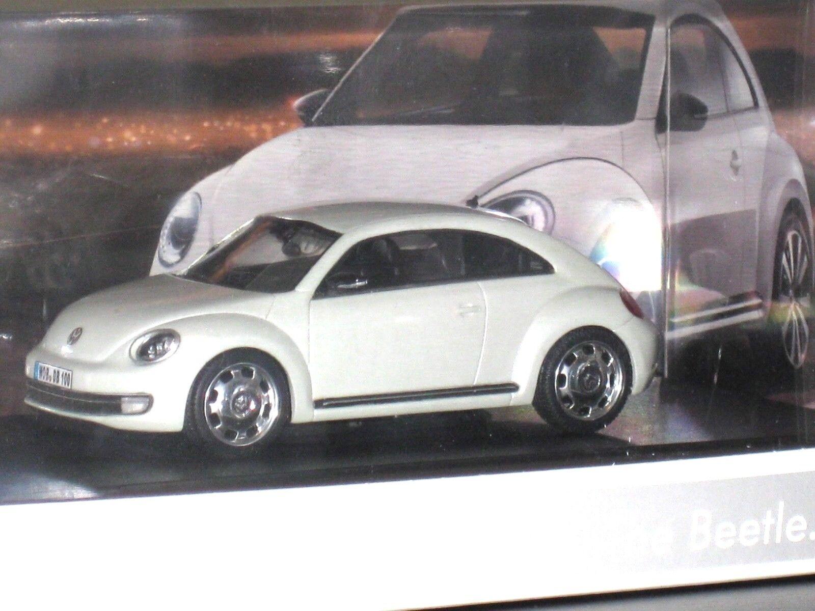 VW NEW BEETLE COCCINELLE Presse Launch 2011 Modèle MODEL BOX SCHUCO 1 43 Blanc blanc