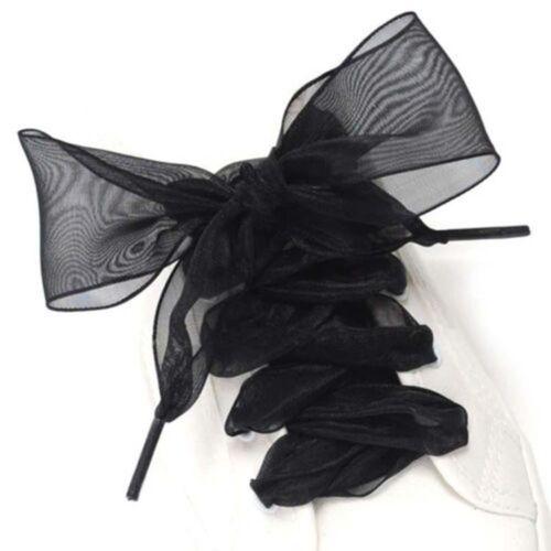 Chiffon Ribbon Silk Sneaker Sport Flat Laces Shoes Shoelaces