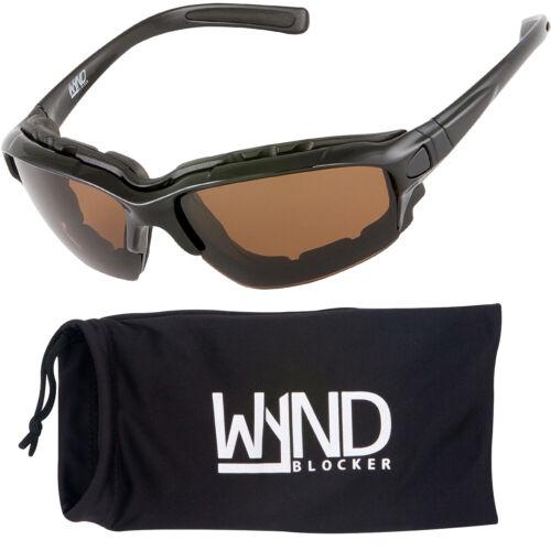 WYND Blocker Polarized Sunglasses Wind Block Sports /& Motorcycle Riding Glasses
