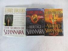 Terry Brooks SWORD OF SHANNARA TRILOGY / HERITAGE OF SHANNARA & WORLD OF 3 Vol's