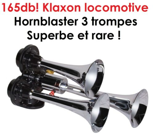 PROMO KLAXON SIRENE 3 TROMPES 24V 165db HORNBLASTER AMBULANCE POLICE POMPIER