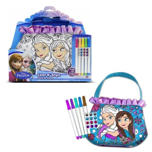 Tara Disney Frozen Color N' Style Fashion Purse Activity w Permanent Markers
