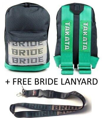 Bride JDM Bag Backpack Rucksack Harness Straps Travel MX5 Civic Lanyard Takata