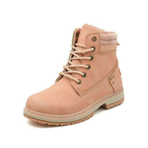 Ladies Leather Boots Women Waterproof Fur Lined Winter Warm Walking Hiking Boots