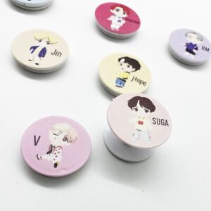 BTS Cartoon Chibi Adjustable Phone Grip Holder Stand Ring