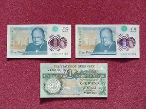 new fiver 5 pound notes set james bond fav number 420 mint unc