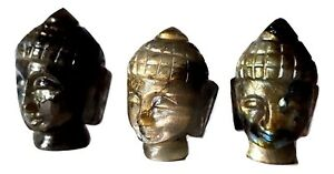 Labradorite Buddha Testa Intagliato Cristallo Gemma Buddista Spiritualità X 1