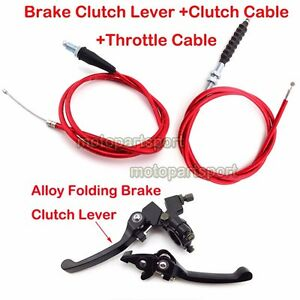 Red-Clutch-Throttle-Cable-Brake-Lever-CRF50-Pit-Dirt-Bike-90-110-125-150-160-cc