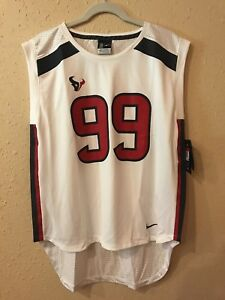 release date 70462 96bb3 Details about Women's Nike JJ Watt White Houston Texans Jersey Tank Sz L  Sleeveless NEW NWT