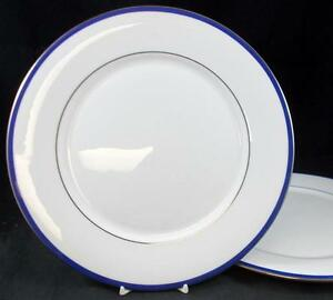 Lenox-EMMA-2-Dinner-Plates-Bone-China-signs-of-use-GREAT-VALUE