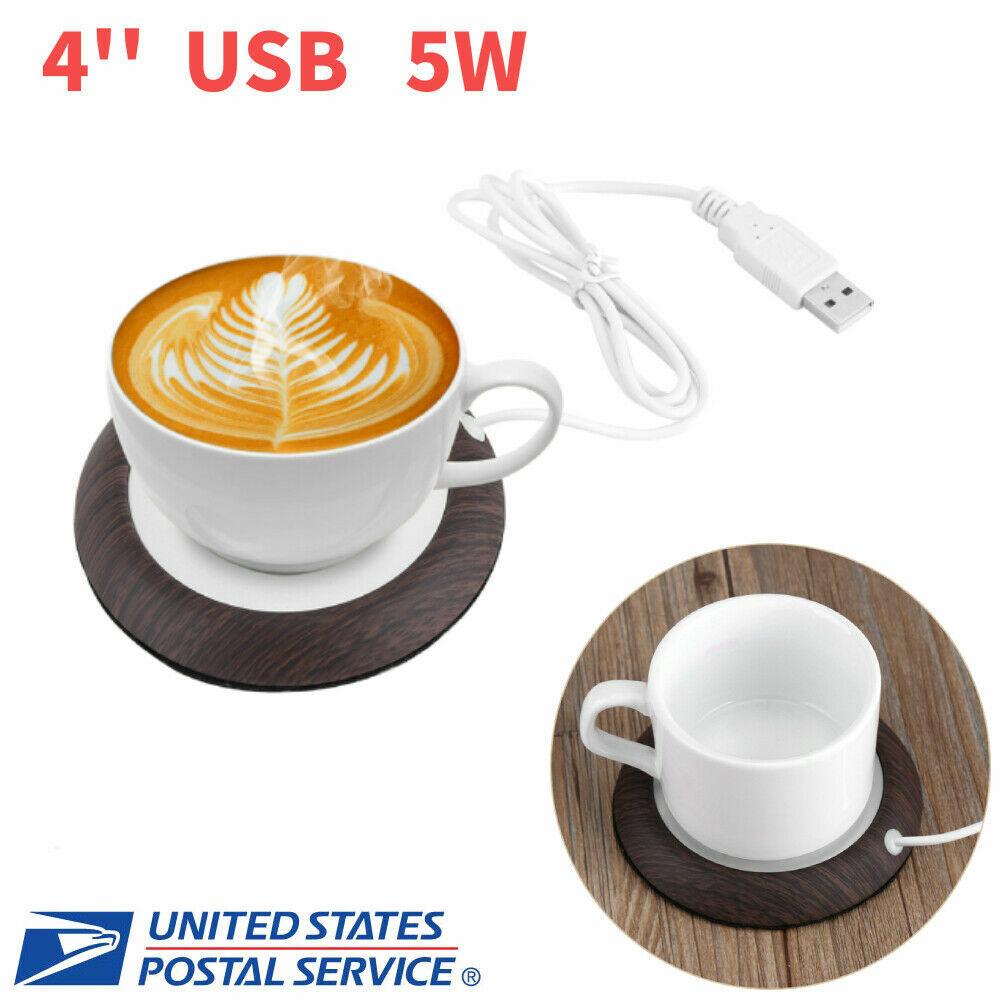 Electric Coffee Mug Warmer Heating Plate Tea Milk Cup Pad Heater Portable I8L6