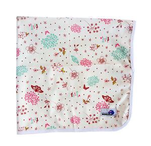 Cute Pink Flowers Change Mat Soft Reusable Cloth Waterproof Multi-Function