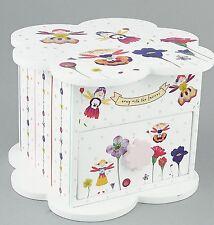 Floss & Rock Petal Fairy 1 Drawer Trinket Jewellery Box Girls With Mirror Gift