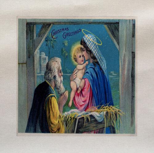 Navidad Bebé Jesús Impreso En Tela Panel hacer un Cojín De Tapicería Craft