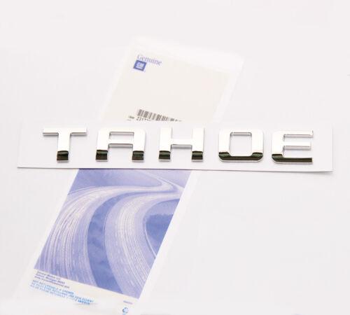 1x OEM Chrome TAHOE Nameplate EMBLEM Letter for GM Chevrolet Glossy UW
