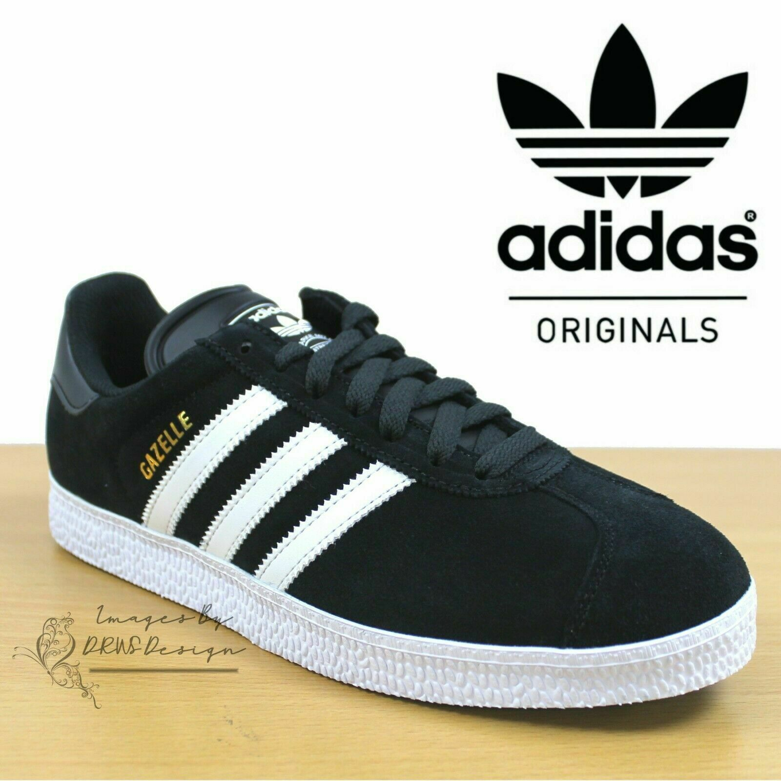 Adidas Originals GAZELLE II Mens Trainers Black Suede shoes  24Hr DELIVERY