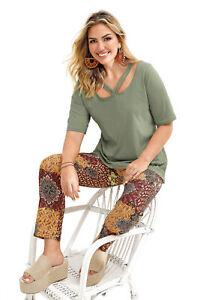 Camiseta tiras cruzadas en el escote mujer - 036571