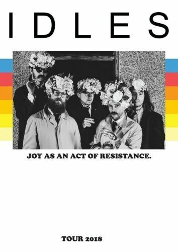 New Idles Joy As An Act Of Resistance Fabric Poster Idles Rock Band X-83-24x36