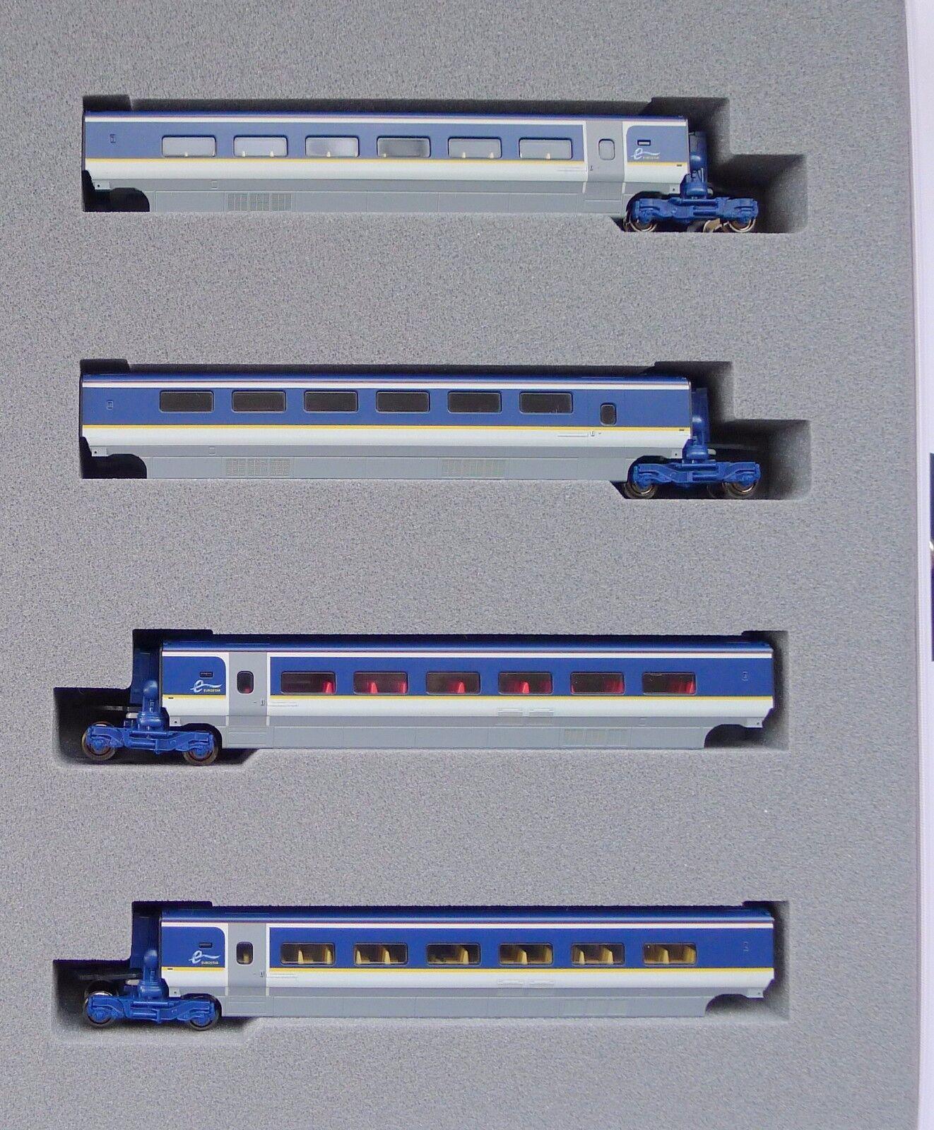 Kato N Scale 10-1298 Eurostar Nuevo Coloree e300 Conjunto de 4 coches Añadir En