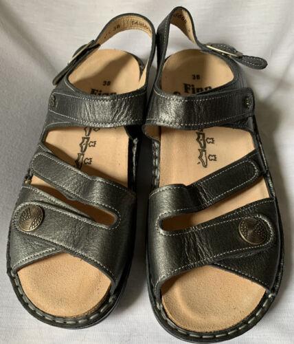 Finn Comfort Tiberias Anthrazite Leather Footbed S