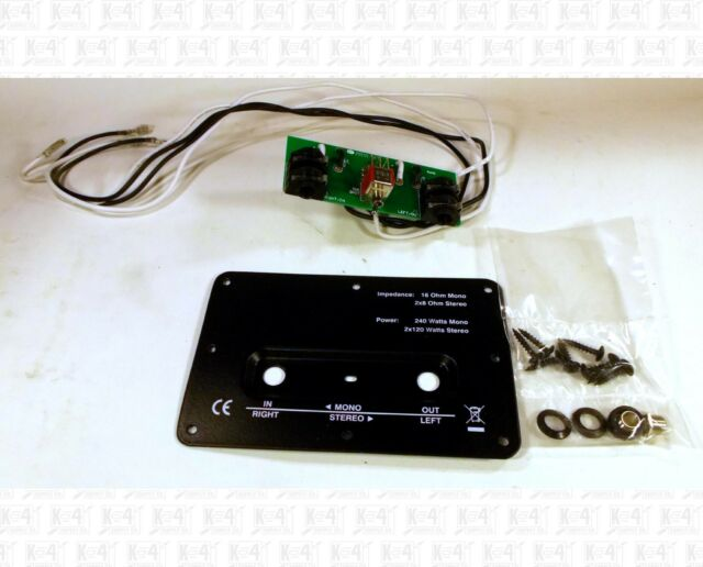 Stereo Mono Switchable 1/4 Inch Phone Jack Speaker Terminal Panel 4 X 6 Inches