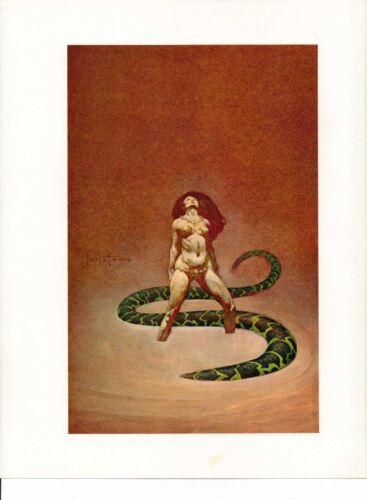 "1978 Full Color Plate /""Aros/"" by Frank Frazetta Fantastic GGA"
