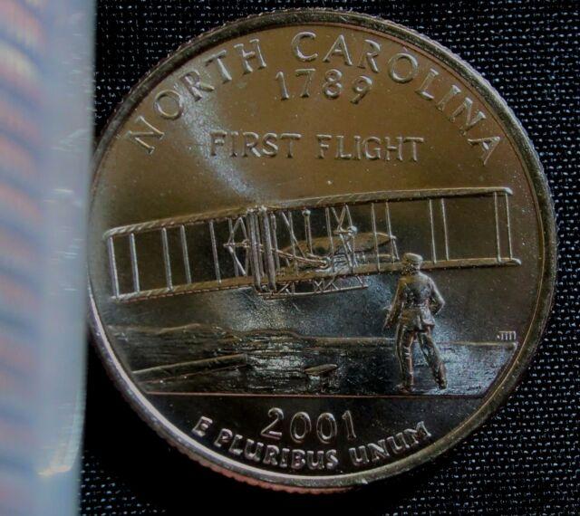 2001 North Carolina State Quarter Roll 40 Coins! Circulated