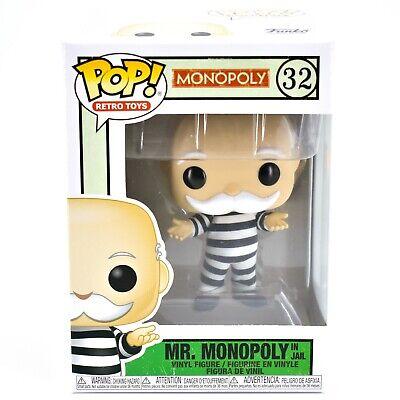 Monopoly in Jail Vinyl Figure #51898 Mr Monopoly Funko Pop Retro Toys