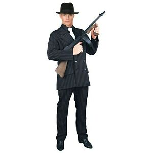 Image is loading Gangster-Costume-Adult-20s-Mobster-Suit-Al-Capone-  sc 1 st  eBay : al capone costumes  - Germanpascual.Com