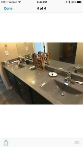 Details About Dual Sink Vanity Top Wave Sinks New In Box By Onyx
