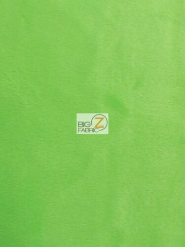 "MINKY SOLID BABY SOFT FABRIC Lime Green 58//60/"" WIDE SMOOTH BY THE YARD"