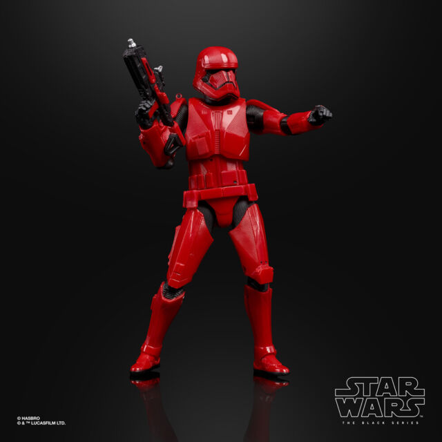 San Diego comic-con 2019 Hasbro Star Wars Black Series RED SITH TROOPER Exclusif dans la main