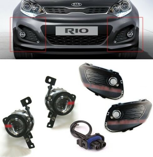 Pride Conector 6p 1Set For 12-14 Kia Rio 5DR OEM Fog Light Lamp with Cover