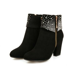 Zapatos Botas Botines de Mujer Tacon Cuadrado Ancho Nueva Colección ... 099b9b6ca008c