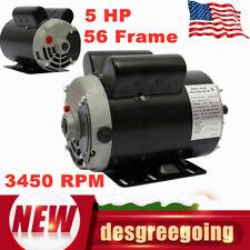 5 Hp Spl Air Compressor 3450 Rpm Electric Motor Single Phrase 208 230 Volts Usa