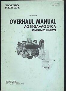 1976 volvo penta engine units aq 190a aq 240a workshop manual rh ebay co uk