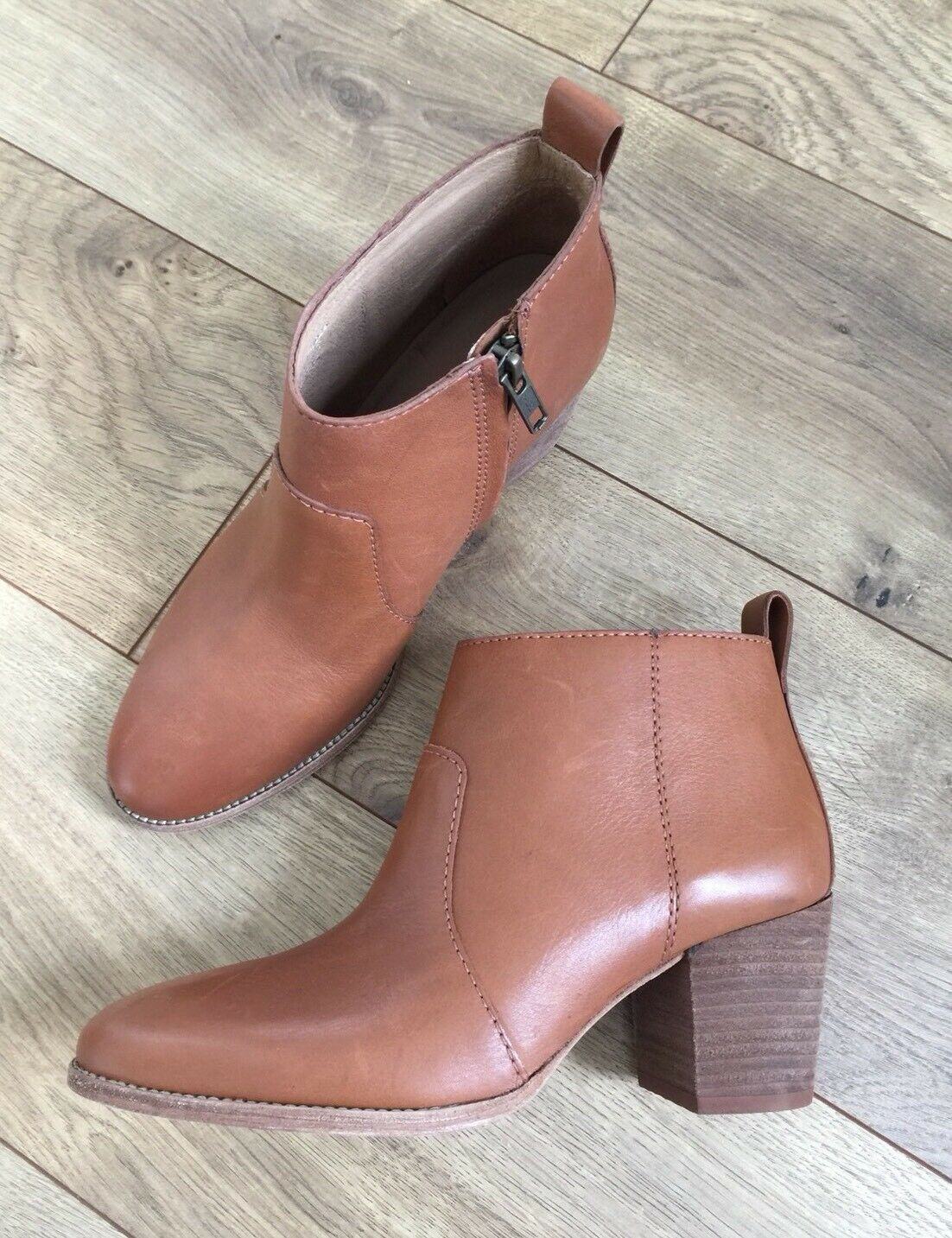 New Madewell Brenner Ankle Stivali Pelle English Saddle marrone  Sz Sz  marrone  5400bf