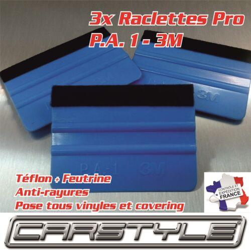 Feutrine souple anti rayures COVERING POSE FILMS 3x Raclette PRO 3M PA1 Téflon